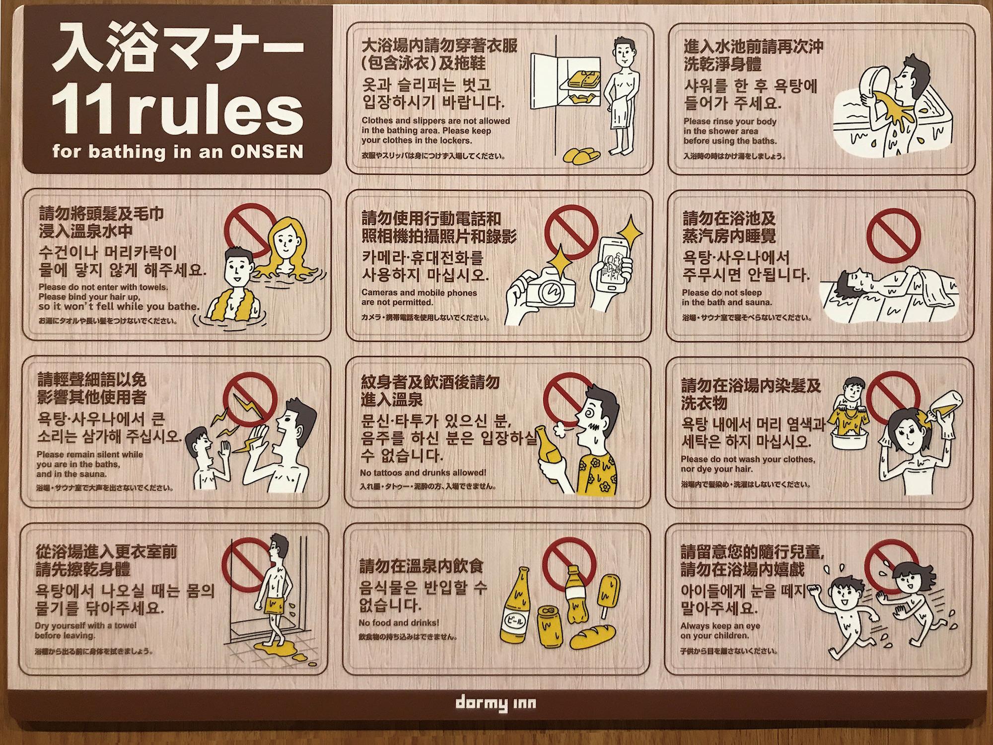 Resultado de imagen de onsen rules